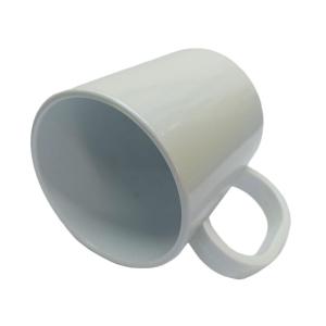 Caneca de Plástico Polímero para Sublimação Linha Color   Branco Pérola