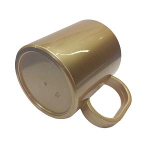 Caneca de Plástico Polímero para Sublimação Linha Color   Bronze