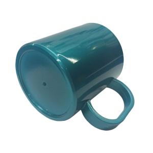 Caneca de Plástico Polímero para Sublimação Linha Color | Verde Metal