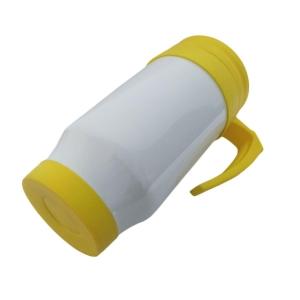Caneca Térmica 450ml de Polímero Branco para Sublimação (SFCT) | Tampa/Alça/Base: Amarela