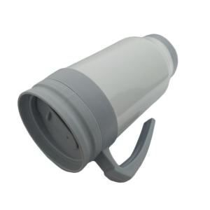 Caneca Térmica 450ml de Polímero Branco para Sublimação (SFCT)   Tampa/Alça/Base: Cinza