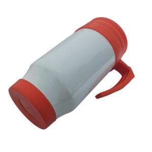 Caneca Térmica 450ml de Polímero Branco para Sublimação (SFCT)   Tampa/Alça/Base: Laranja