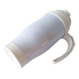 Caneca Térmica 450ml de Polímero Branco para Sublimação | Tampa/Alça/Base: Branca