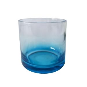 Copo de Whisky Vidro 250ml para Sublimação   Azul