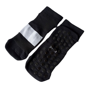 Meia Antiderrapante Pro Pilates com Tarja Branca para Sublimação | Tamanho XG - 39 a 43 | Preta (SE)