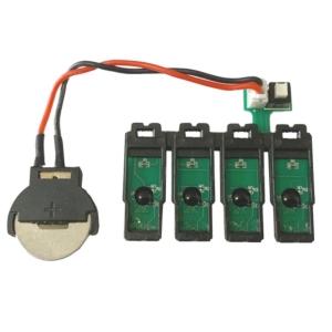 Placa Reset Chip Full para Bulk Ink Epson 4 Cores | Modelo: 200XL1R Botão Reset com Bateria