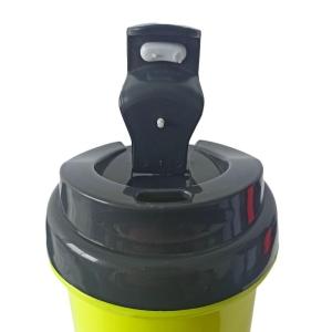 Squeeze de Plástico Polímero 550ml Colorido com Tampa Preta para Sublimação (ADP)   Amarelo