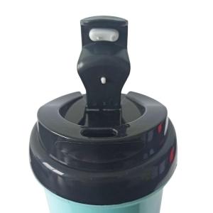 Squeeze de Plástico Polímero 550ml Colorido com Tampa Preta para Sublimação (ADP) | Azul Turquesa