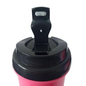 Squeeze de Plástico Polímero 550ml Colorido com Tampa Preta para Sublimação (ADP) | Pink