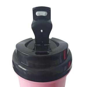 Squeeze de Plástico Polímero 550ml Colorido com Tampa Preta para Sublimação (ADP)   Rosa BB