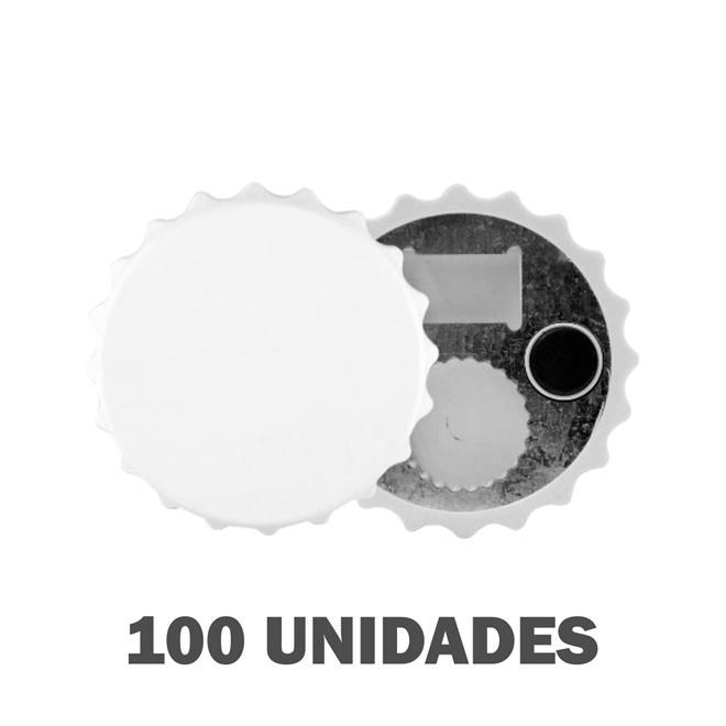 ABRIDOR DE GARRAFAS IMÃ EM POLÍMERO PARA SUBLIMAÇÃO - 100 UNIDADES