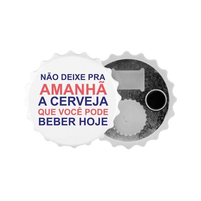 ABRIDOR DE GARRAFAS IMÃ EM POLÍMERO PARA SUBLIMAÇÃO - 10 UNIDADES
