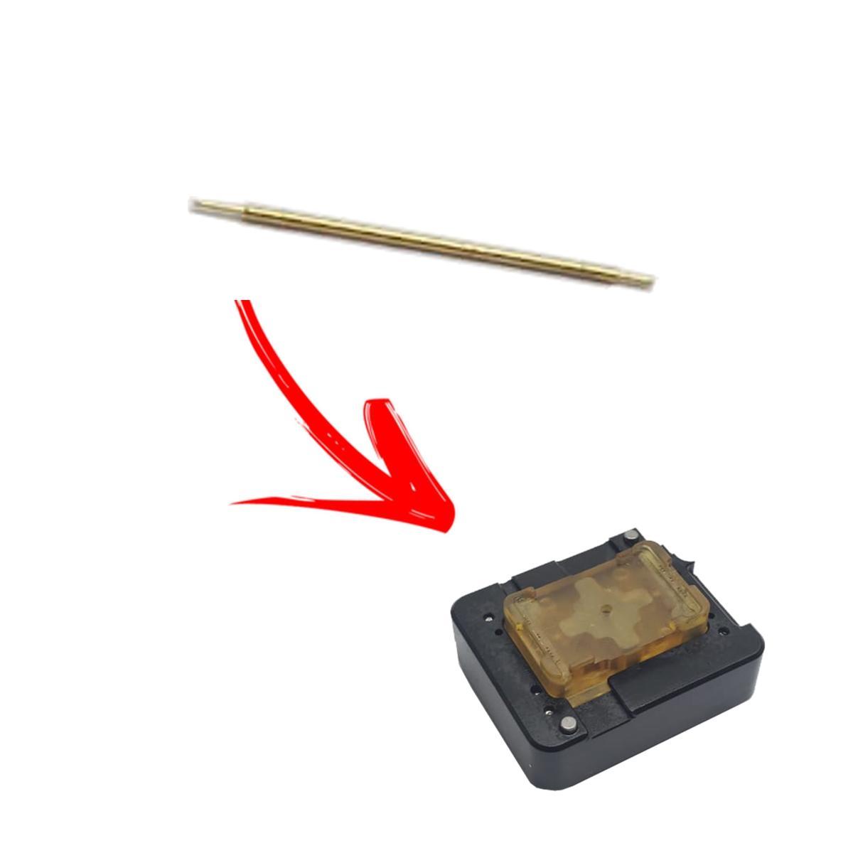 Agulha para Reposição no Suporte de Contato Modelo 2 (Preto/Amarelo) para Gravadora Firmware Jig - Red