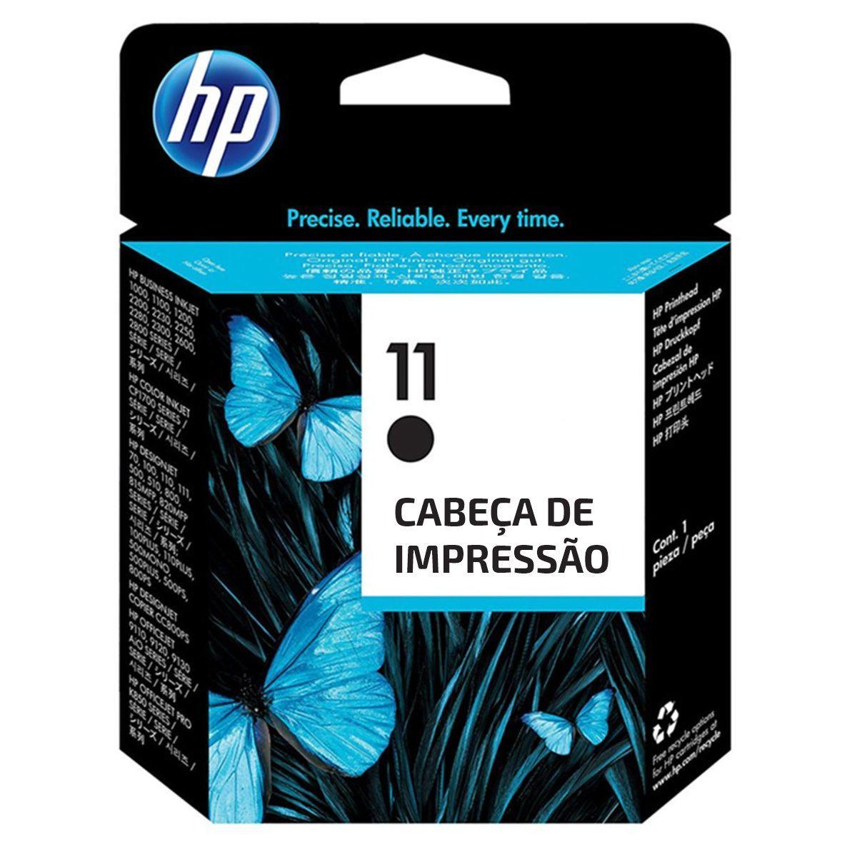 Cabeçote de Impressão Original HP 11 Preto (Vencido - Porém Funciona)