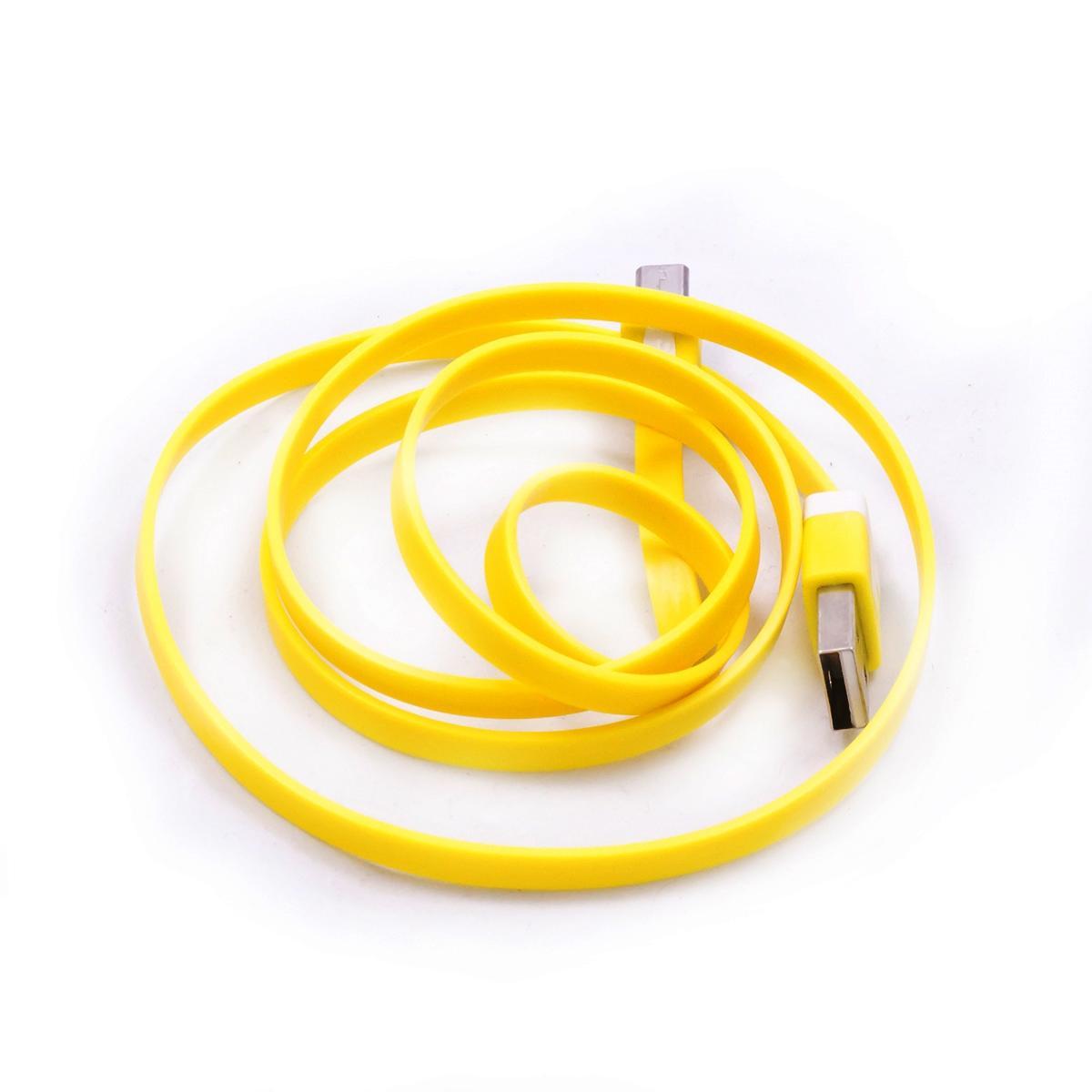 Cabo Micro USB Amarelo