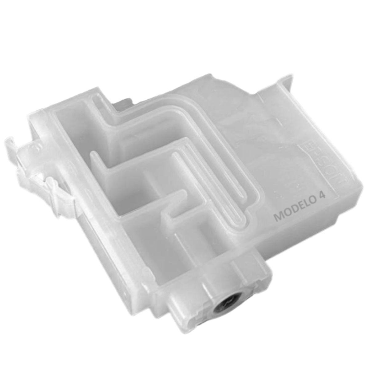 """Cartucho de Reposição """"Damper"""" para Impressoras Epson EcoTank L3110, L3150 (CMYK) e L4150, L4160, L6161, L6171, L6191 (CMY) e Similares (Modelo 4)"""