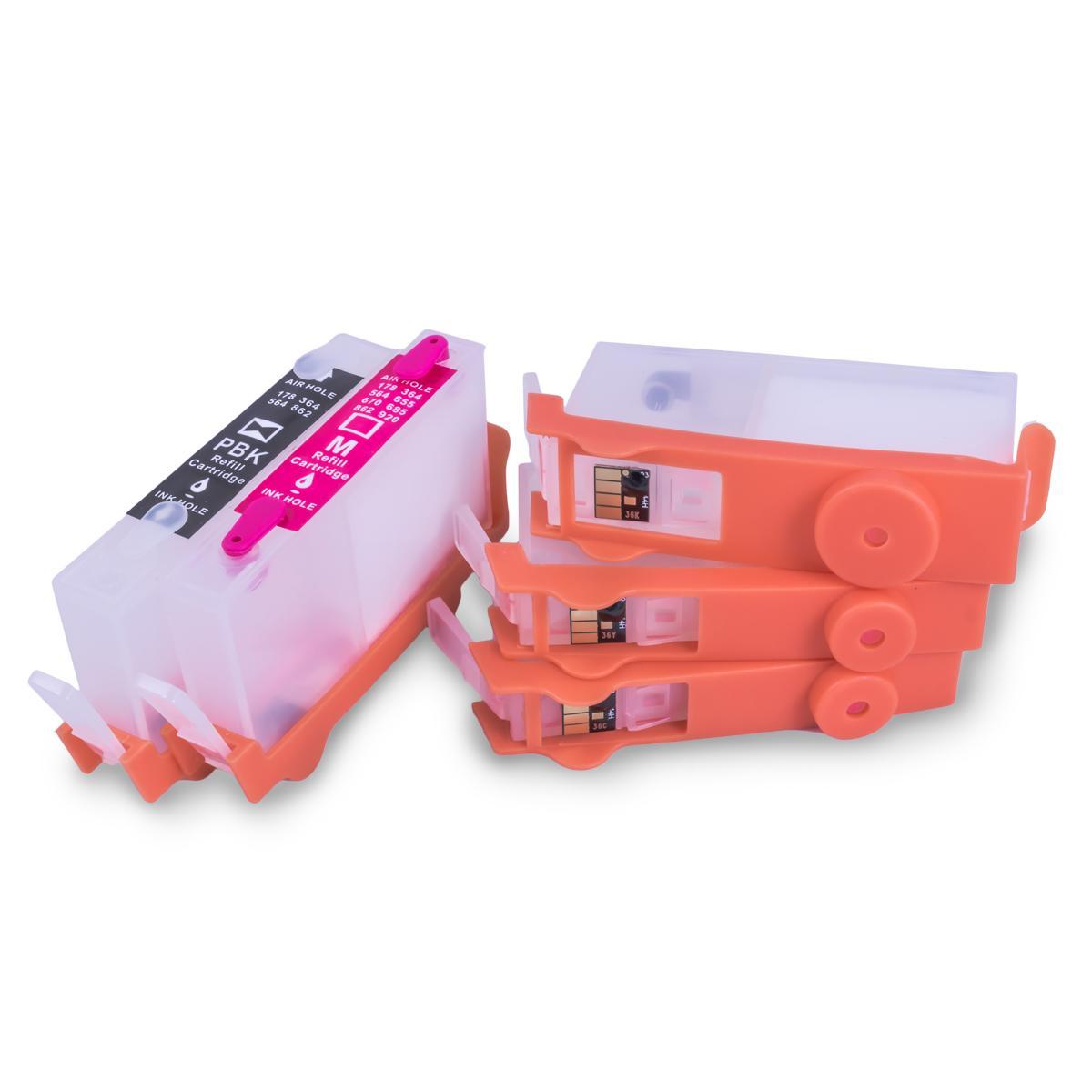 Cartucho Recarregável HP 364 - 5 Cores - Com Chip - Vazio