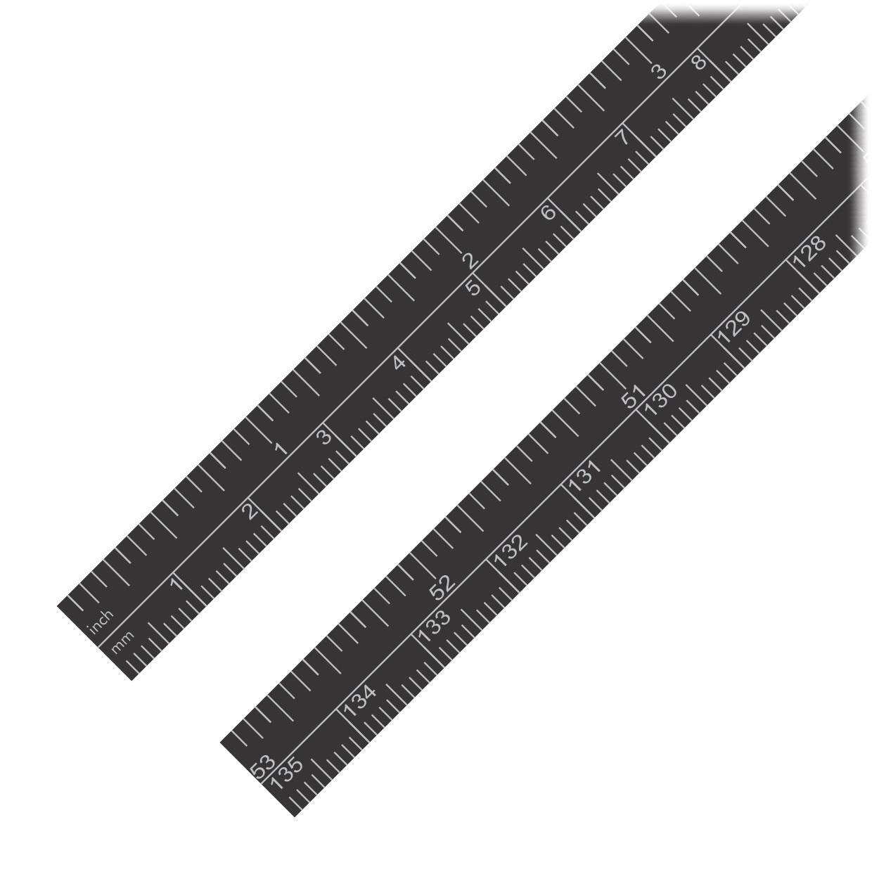 Fita Métrica Adesiva 135cm (1 Numeração Normal e 1 Numeração Invertida) - 2 Unidades