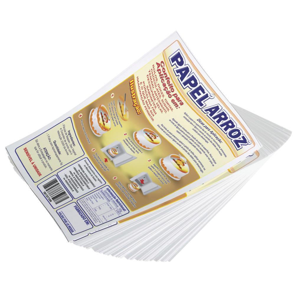 Folha de Instrução para Rótulo Papel Arroz - Tamanho: A4 (210x297mm) - 100 Folhas