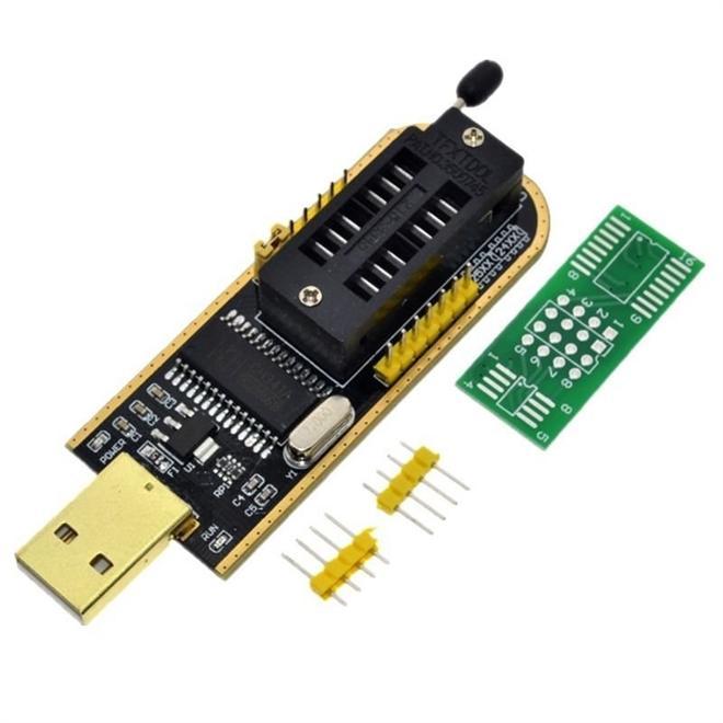 Gravador de Eeprom CH341A Flash Spi Bios + Pinça Clip SOIC8 SOP8