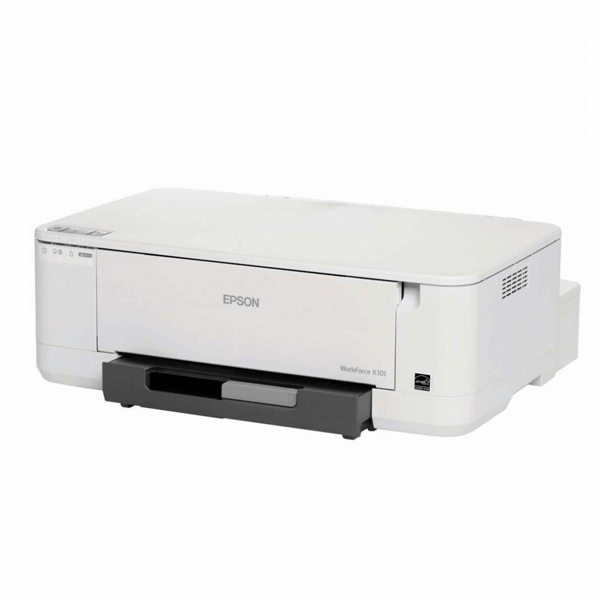 Impressora Monocromática WorkForce Epson K101 (Só Preto) - Com Bulk Ink 500ml Instalado com Tinta Corante