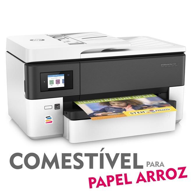 IMPRESSORA MULTIFUNCIONAL HP OFFICEJET PRO 7720 (A3) COM BULK INK INSTALADO - TINTA COMESTÍVEL PARA PAPEL ARROZ