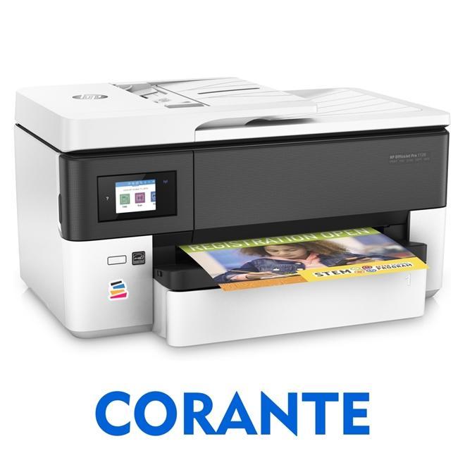 IMPRESSORA MULTIFUNCIONAL HP OFFICEJET PRO 7720 (A3) COM BULK INK INSTALADO - TINTA CORANTE