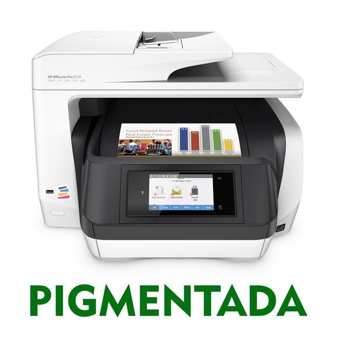 IMPRESSORA MULTIFUNCIONAL HP OFFICEJET PRO 8720 COM BULK INK INSTALADO - TINTA PIGMENTADA