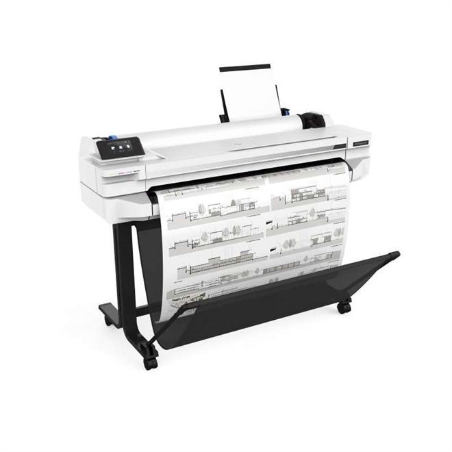 "IMPRESSORA PLOTTER HP DESIGNJET T530 (36"") COM BULK INK INSTALADO - TINTA CORANTE"