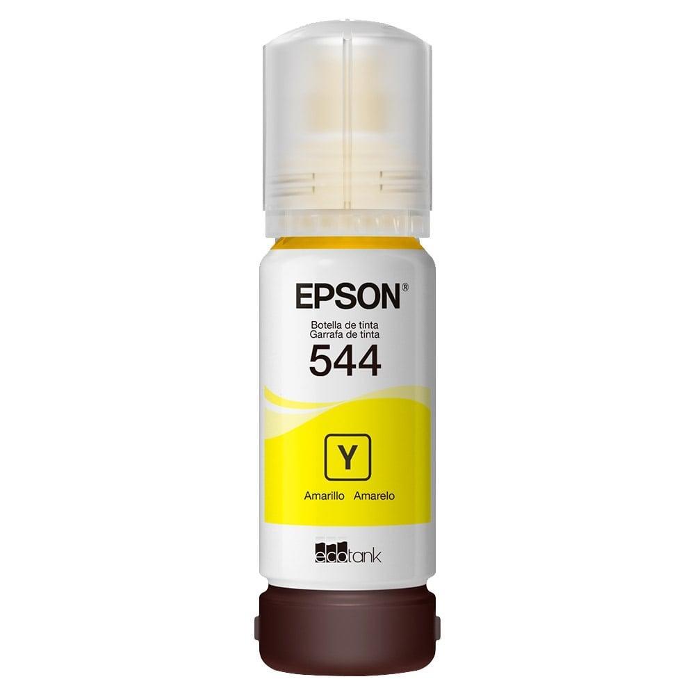 Kit Refil de Tinta Original Epson 4 Cores (544) para Epson L3110, L3150, L5190 e Similares