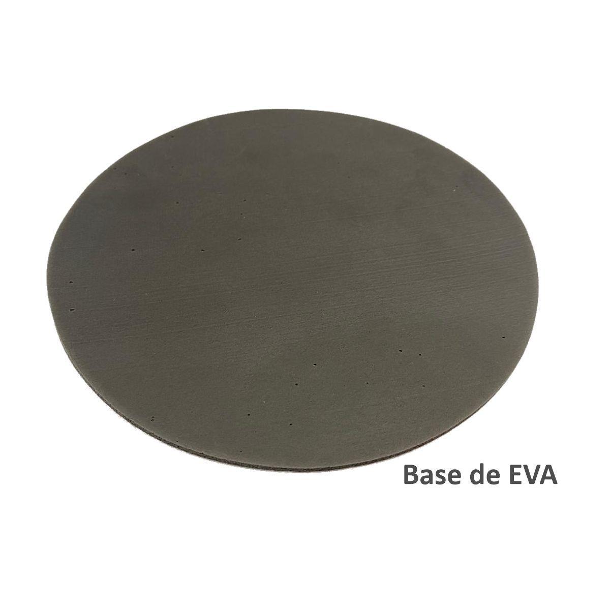 MOUSE PAD BRANCO PARA SUBLIMAÇÃO - MODELO: REDONDO 18CM (BASE DE EVA)