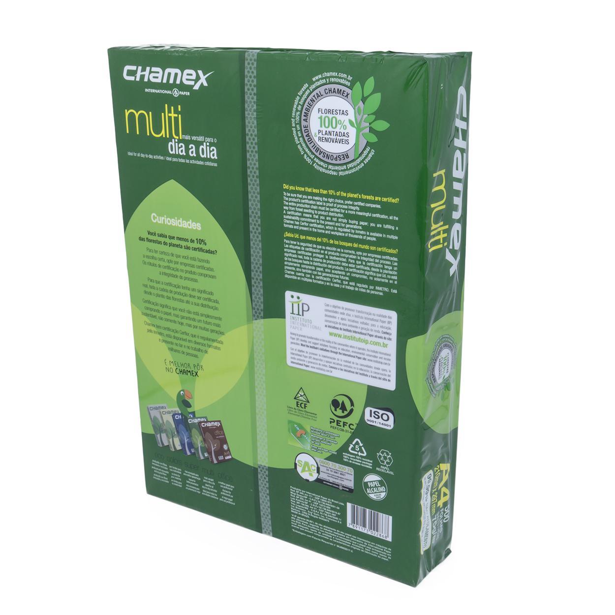 Papel Sulfite A4 Branco | Chamex Multi 75g - Resma 500 Folhas