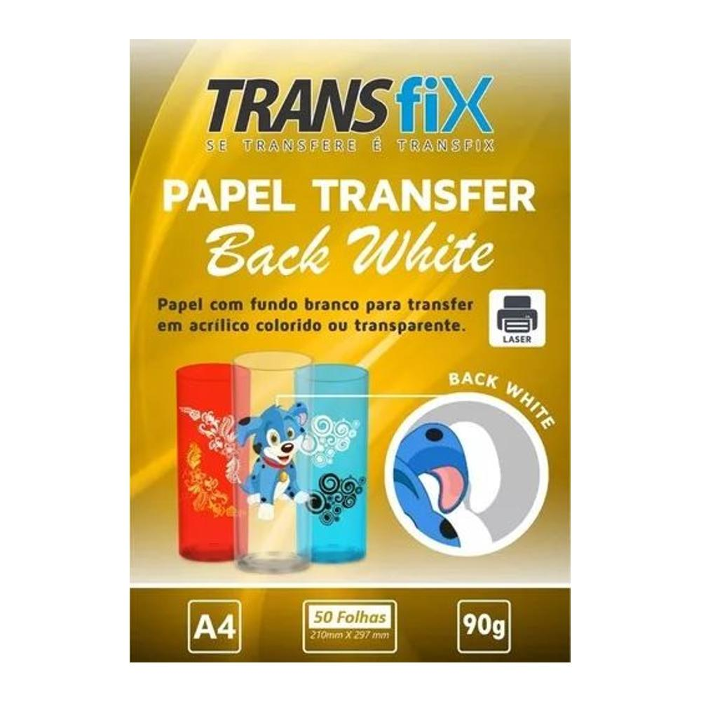 Papel Transfer Laser Fundo Branco Back White 90g - A4 50fls