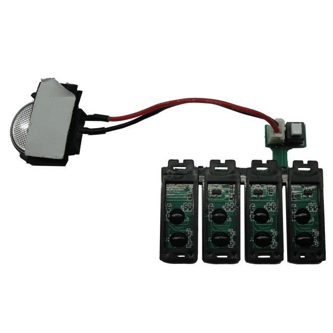 Placa Reset Chip Full para Bulk Ink EPSON T22, TX120 e TX130 (T1321R) - Botão Reset (com Bateria)