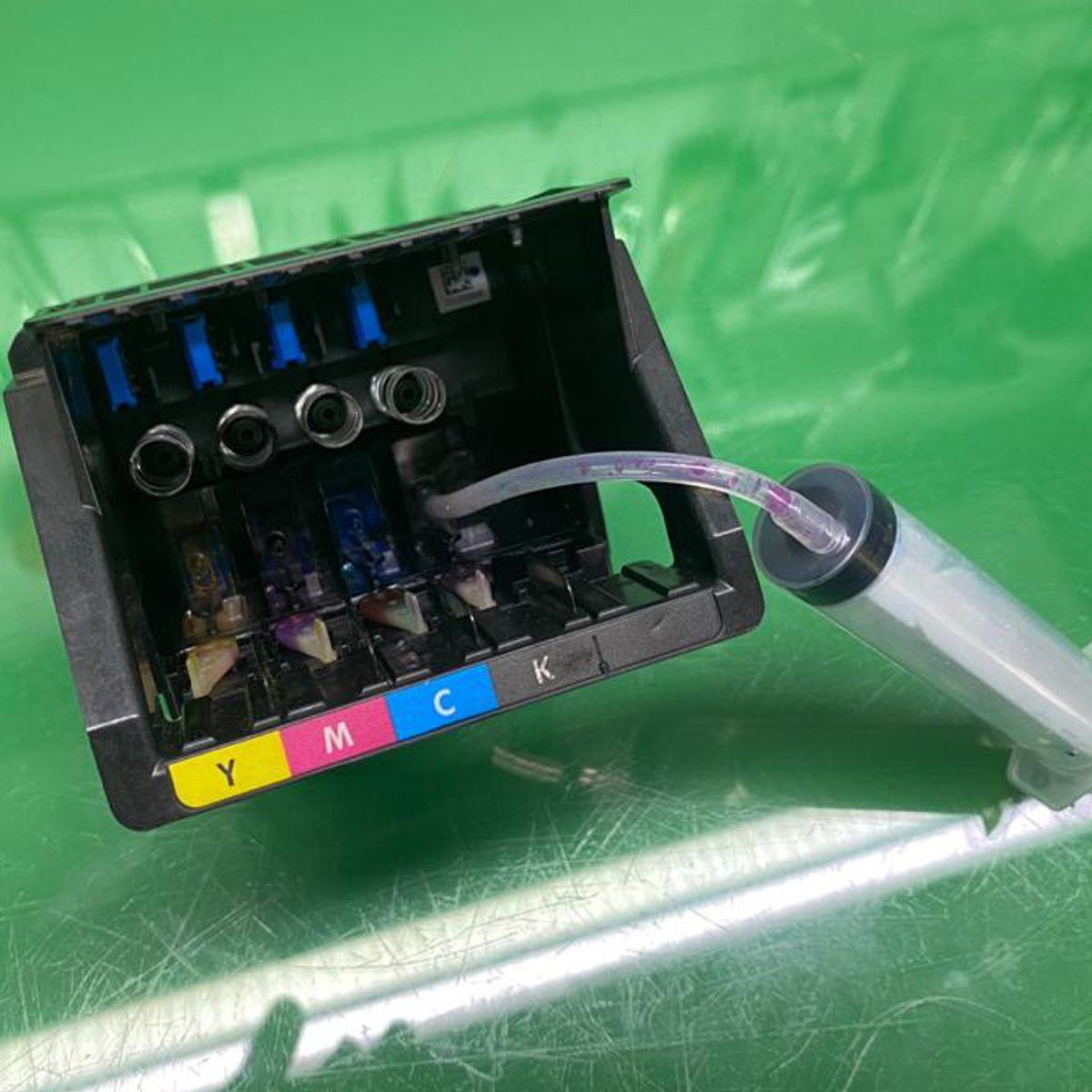 Seringa com Mangueira de Silicone Flexível para Cabeçotes HP PRO e CANON MAXIFY - Kit com 10 Unidades