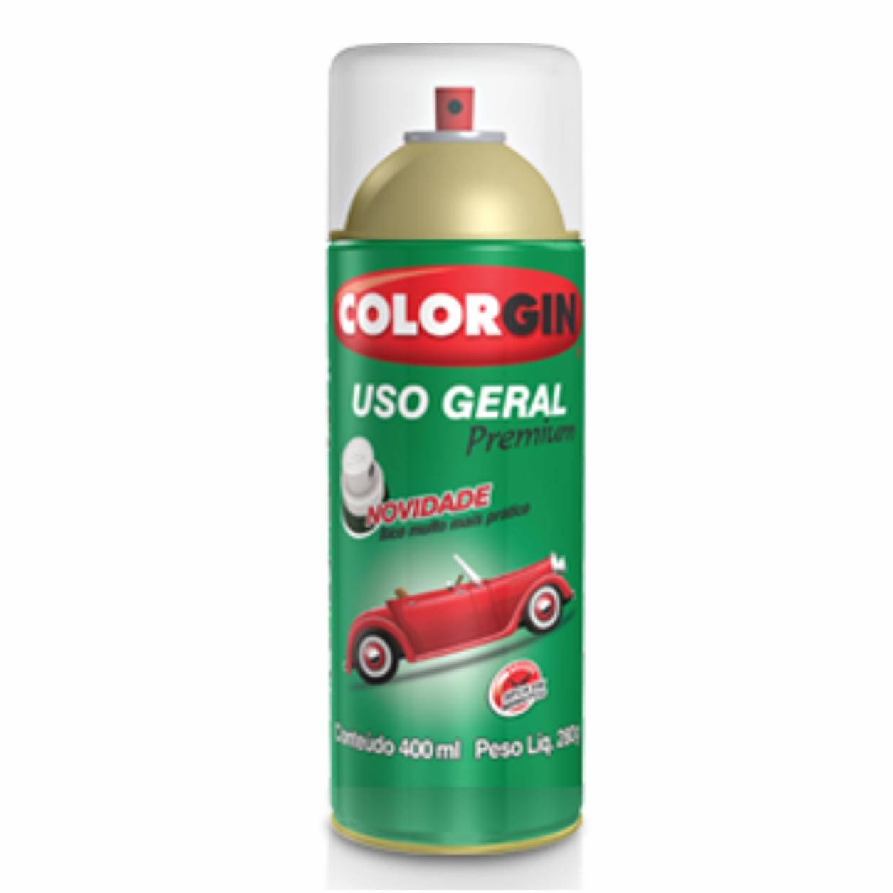 Spray Verniz Colorgin 400ml/280g - Incolor Uso Geral Premium