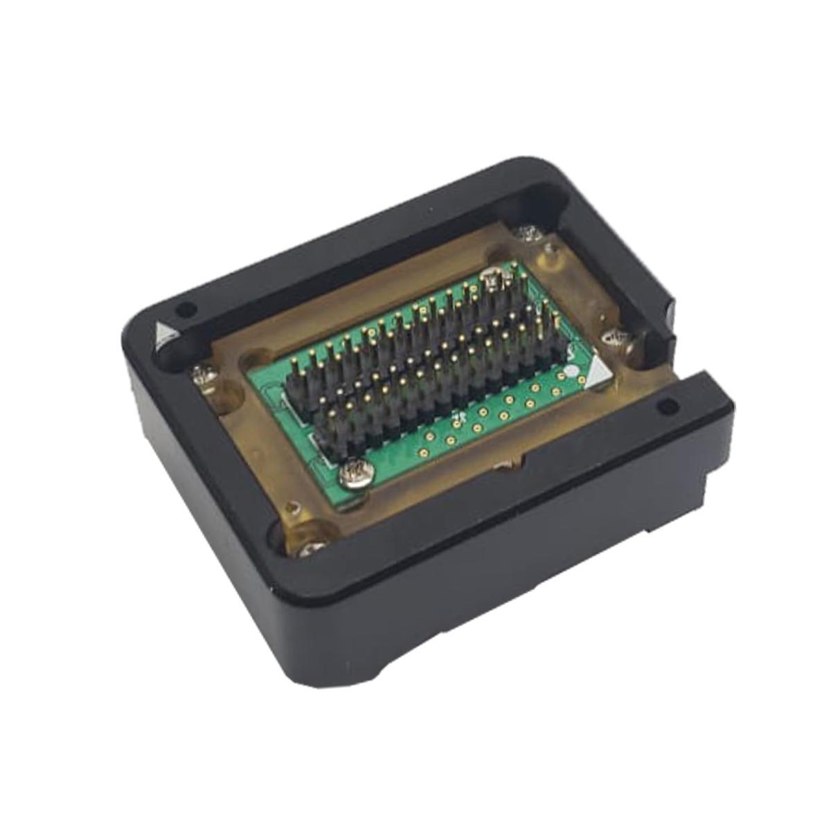 Suporte de Contato Modelo 2 (Preto/Amarelo) para Gravadora Firmware Jig - Red