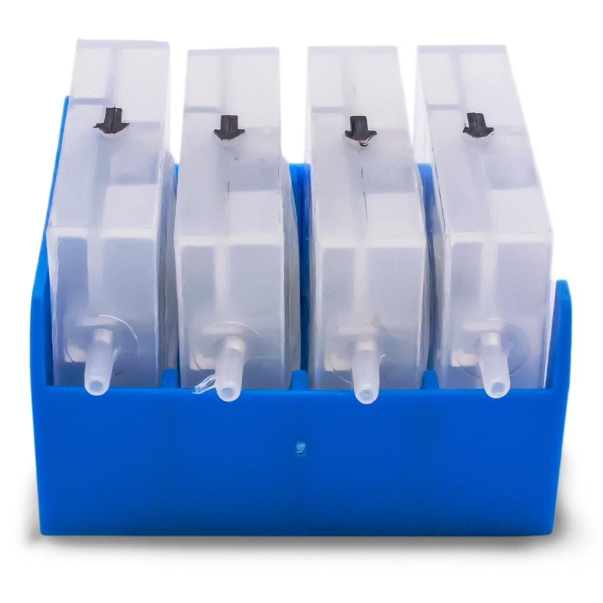 Válvula Anti-Refluxo para Bulk Ink 4 Cores - Modelo: Damper com Capa Azul
