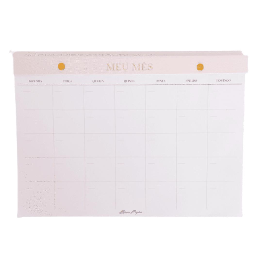 Bloco planejador - mensal
