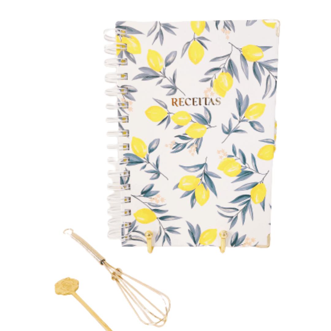 Caderno de receitas - off white