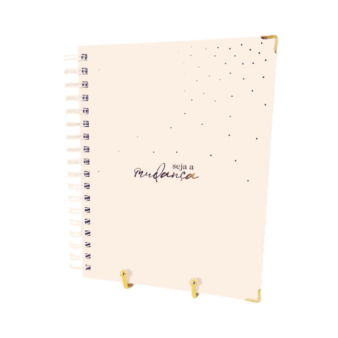 Caderno poá - rosa