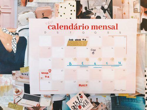 Calendário mensal woman