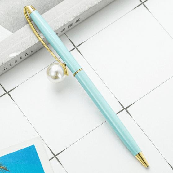 Caneta pérola - azul