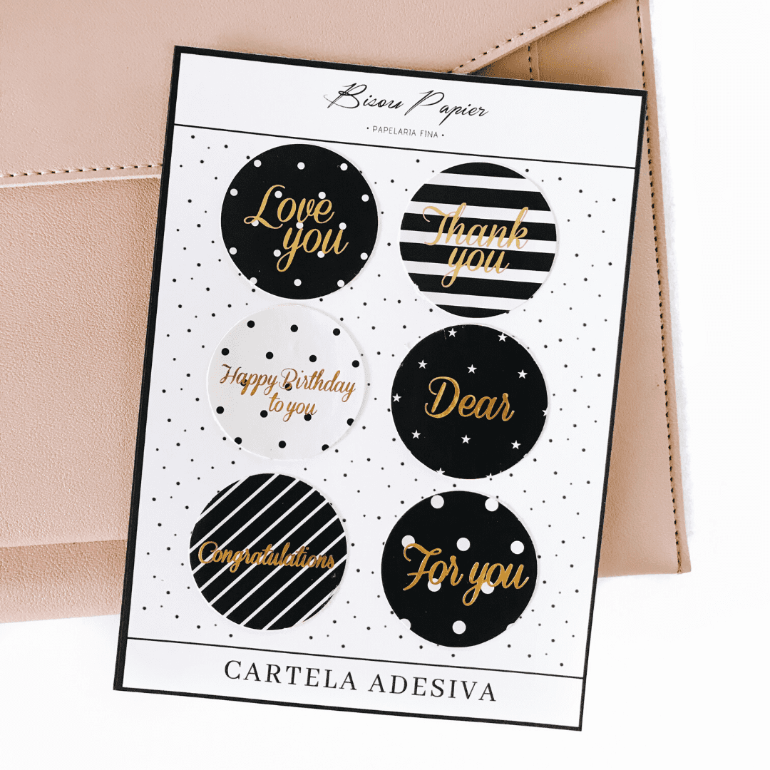 Cartela adesiva foil and black