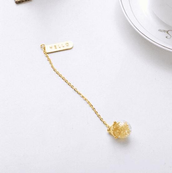 Marcador de página - cristal amarelo