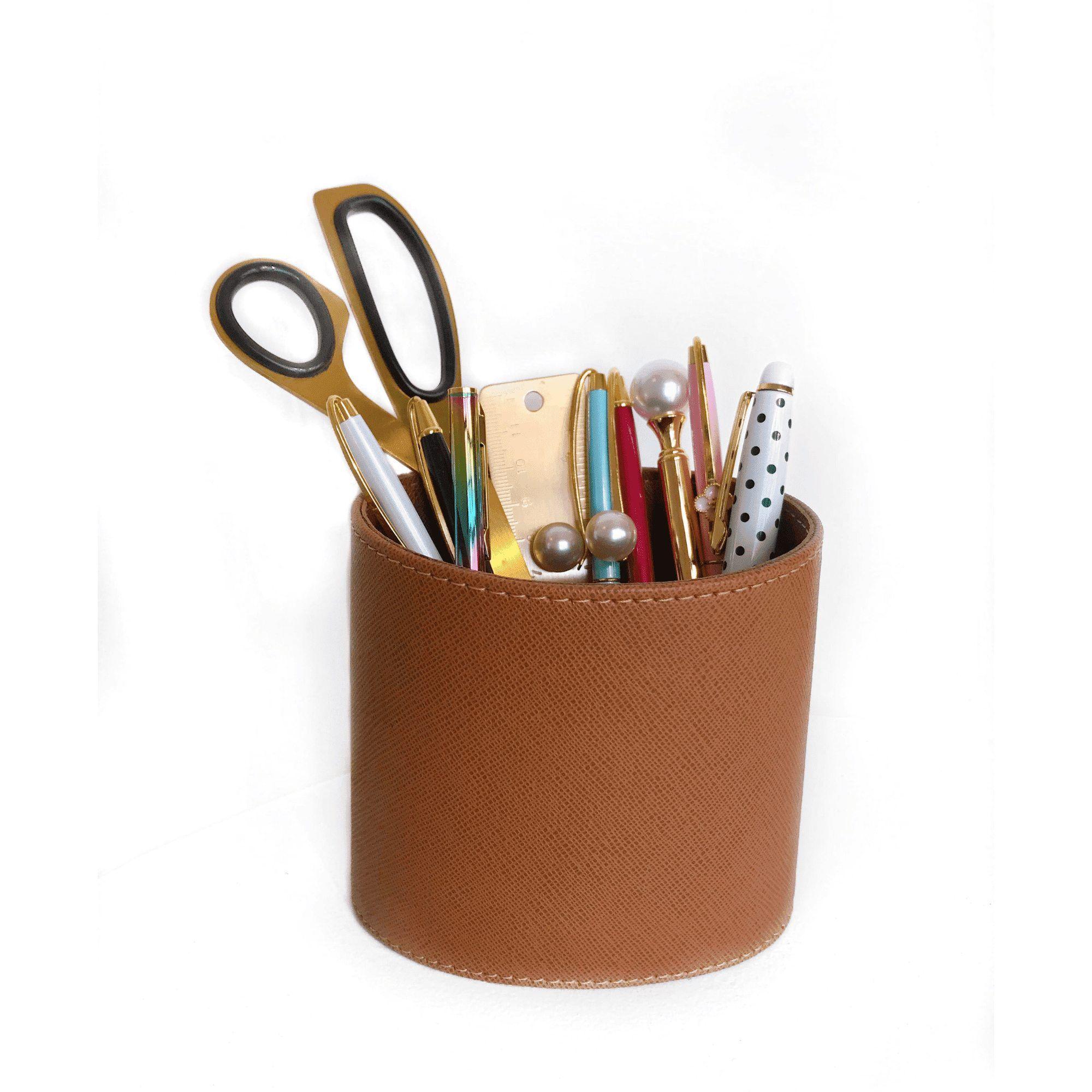 Porta lápis/controle/pincéis - Caramelo