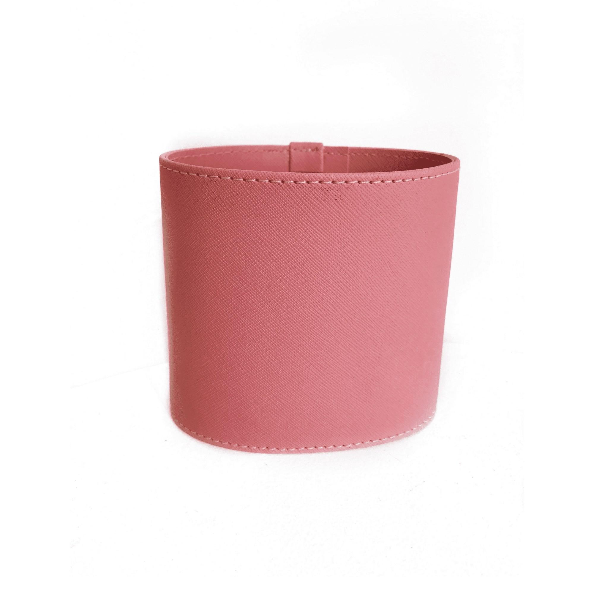 Porta lápis/controle/pincéis - Rosa chiclete