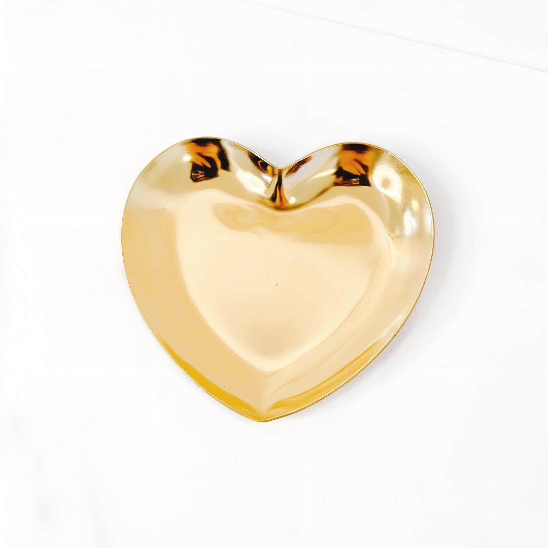 Pratinho de coração gold