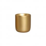 Cachepot P Dourado Cerâmica Decoração Casa 15x13,7 cm