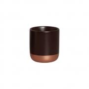 Cachepot P Marrom e Bronze Cerâmica Decoração Casa 15x13,7 cm